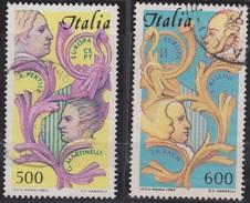 ITALIA - Serie 2 Valori Usati - Europa Unita. Anno Dedicato Alla Musica - 20.6.1985