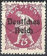 Germania  - 1920 F.llo Di Bayern Soprastampato 75p Lilla # Michel 127 - Scott (Bayern) 264 - Unificato 228 - Usato