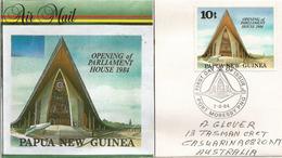 Le Nouveau Parlement De Papouasie, Belle Lettre De Port-Moresby,Papouasie, Adressée Australie