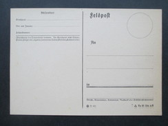 3. Reich Feldpostkarte 2. Weltkrieg Ungebraucht Interessant?? Fp 50 Din A6 (7.41)