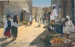 Une Rue De Village Arabe - Neuve Excellent état Scenes Et Types - Afrique Du Nord - Algérie Maroc Tunisie