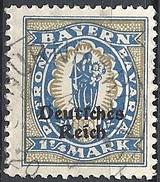 Germania  - 1920 F.llo Di Bayern Soprastampato 1¼ Azzurro # Michel 130 - Scott (Bayern) 267 - Unificato 231 - Usato