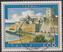 ITALIA - Valore Usato Di 600 Lire - Propaganda Turistica. 12° Emissione. Termoli - 1.6.1985