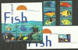 ST.VINCENT & GRENADINES  2000  MARINE LIFE,FISH SET & 4 SHEETS  MNH(2 SCANS)