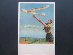 3. Reich Propaganda Karte NSFK NS-Fliegerkorps Modellflug Luftwaffe. Hitlerjugend. Ungebraucht!