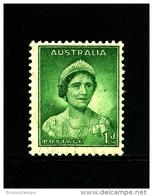 AUSTRALIA - 1938  DEFINITIVE  1d  GREEN  WMK  PERF. 14 X 15  MINT NH  SG 180