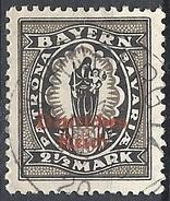 Germania  - 1920 F.llo Di Bayern Soprastampato 2½ Nero # Michel 132 - Scott (Bayern) 269 - Unificato 233 - Usato
