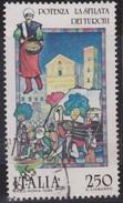 ITALIA - Valore Usato Di 250 Lire - Folclore Italiano. 4° Emissione. Potenza: La Sfilata Dei Turchi - 29.5.1985