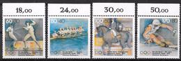 Bund 1992 / MiNr.   1592 – 1595  Oberränder    ** / MNH   (e571)