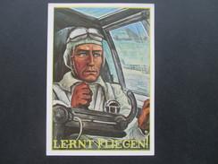 3. Reich Propaganda Karte NSFK NS-Fliegerkorps. Luftwaffe. Lernt Fliegen! Ungebraucht! L In 9. Interessante Karte!?!