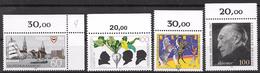Bund 1992 / MiNr.   1598 , 1599 , 1600 , 1601  Ränder    ** / MNH   (e572)