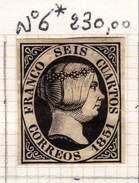 ESPAGNE - ANCIENNE COLLECTION SUR CHARNIERE - YT N° 6* COTE 230 € TRES BEAU SANS DEFAUT
