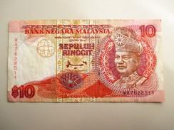 Malaysia 10 Ringgit 1995 Tuanku Abdul Rahman - Malaysie