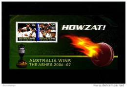 AUSTRALIA - 2007 AUSTRALIA WINS THE ASHES MS  MINT NH - Blocchi & Foglietti
