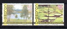 Dos Sellos Aereos De Colombia. Naturaleza