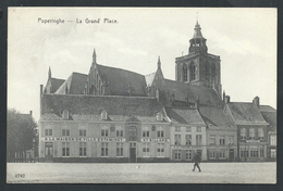 +++ CPA - POPERINGE - POPERINGHE - La Grand'Place - Estaminet Et Billard - Café   //