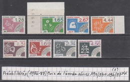 France (1986-87) Préos Mois De L'année Séries 190/93 ** + 194/97 ** à 20% De La Cote (1)