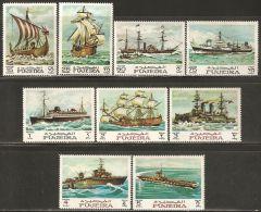 Fujeira 1968 Mi# 234-242 A ** MNH - Maritime History / Ships
