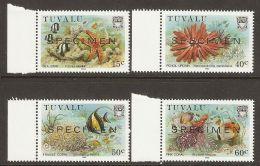 Tuvalu 1986 Mi# 417-420 ** MNH - Specimen - Marine Life / Fish