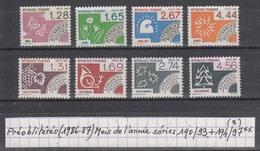 France (1986-87) Préos Mois De L'année Séries 190/93 ** + 194/97 ** à 20% De La Cote (2)