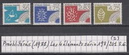 France (1988) Préos Les Quatre éléments Série 198/201 S.G. (2)
