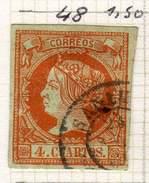ESPAGNE - ANCIENNE COLLECTION SUR CHARNIERE - YT N° 48 COTE 1.50 €