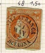 ESPAGNE - ANCIENNE COLLECTION SUR CHARNIERE - YT N° 48 COTE 1.50 € VILLAFRANCA BARCELONA