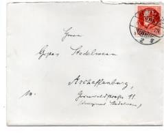 BY Briefchen REGENSBURG - ASCHAFFENBURG 6.8.17 Mit 115 Aa