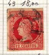 ESPAGNE - ANCIENNE COLLECTION SUR CHARNIERE - YT N° 49 COTE 18 €