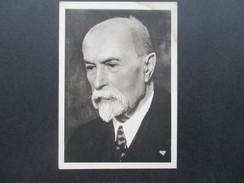 AK Tschechien President Masaryk Photograph Taken During The Last Years Of His Life.  Vydal Ceskoslovensky. - Persönlichkeiten