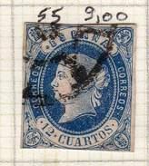 ESPAGNE - ANCIENNE COLLECTION SUR CHARNIERE - YT N° 55 COTE 9 €