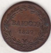 Vatican. Stato Pontificio ,  BAIOCCO 1837 B (BOLOGNA) Anno VII , GREGORIO XVI - Vatican