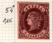 ESPAGNE - ANCIENNE COLLECTION SUR CHARNIERE - YT N° 54 COTE 2.25 €