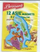 MAGNET BROSSARD - 12 ASIE'MAGNETS - INDONESIE MALAISIE CAMBODGE LAOS THAILANDE - Animals & Fauna