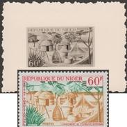 Niger 1965 Y&T 154. Épreuve-photo, Timbre Définitif Modifié. Habitat Traditionnel, Campement De Pêcheurs, Filet