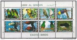 Umm Al-Qiwain 1972 - Tropical Birds ( Mi 1264/71 - YT Xxx ) Sheet