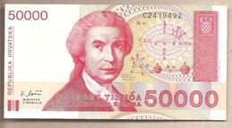 Croazia - Banconota Non Circolata FdS Da 50000 Dinari P-26a - 1993 - Croatie