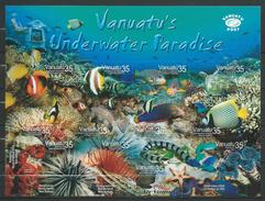 Vanuatu 2004 Tropical Marine Life - Self-Adhesive.fishes.S/S.MNH - Vanuatu (1980-...)