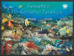 Vanuatu 2004 Tropical Marine Life - Self-Adhesive.fishes.S/S.MNH
