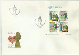 PORTUGAL FDC 1981 EUROPA