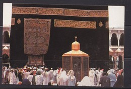 Saudi Arabia Old ,Postcard  Showing The Holly Kaaba  Golden Door , Mecca  Original Photo