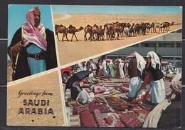 Saudi Arabia Old ,Postcard  Greeting From Saudi Arabia   Original Photo