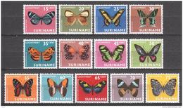 Surinam 1972 Mi 623-635 MNH BUTTERFLIES