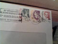 BUSTA 2004 TARGHETTA TRIESTE 50°  ANN. RITORNO A ITALIA E 77 ADUNATA ALPINI  GA12634 - 6. 1946-.. Repubblica