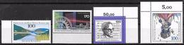 Bund 1992 / MiNr.   1630 , 1636 , 1637 , 1638  Ränder    ** / MNH   (e582)