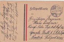 Feldpost WW1: To Kgl. Sachs. Fussartillerie Regiment 12 P/m Leipzig 14.6.1918 - Plain Postcard   (T8A18)