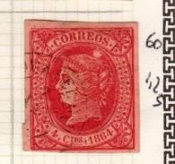 ESPAGNE - ANCIENNE COLLECTION SUR CHARNIERE - YT N° 60 COTE 1.25 €