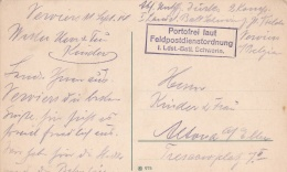 Feldpost WW1: I. Landsturm Bataillon Schwerin W/o Postmark But Postcard Is Signed 11.9.1914 In Verviers (Belgium)  (T8A1
