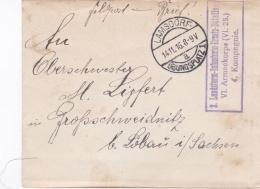 Feldpost WW1: 2. Landsturm Infanterie Ersatz Bataillon, VI. Armeekorps (VI. 25), 4. Kompanie P/m Lamsdorf Übungsplatz 1