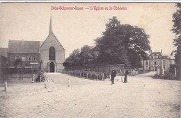 Bois-Seigneur-Isaac - L'Eglise Et Le Château (animée, Edit René Berger, 1909) - Eigenbrakel